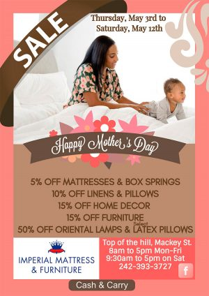 Sale Promotion from Imperial Mattress, Furniture and Accessories