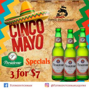 Cinco de Mayo Specials from Flying Dutchman Liquor Stores