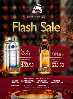 Flash Sale at Flying Dutchman Liquor store on My Deals Today Bahamas