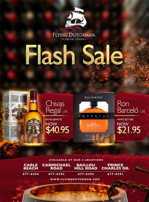 Flash Sale at Flying Dutchman Liquor Stores on My Deals Today Bahamas
